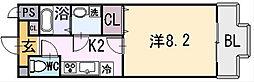 ルミエール八尾II[8階]の間取り