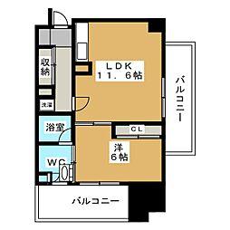 アーク白川公園パークマンション[5階]の間取り