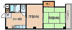 兵庫県神戸市長田区西代通1丁目の賃貸マンションの間取り