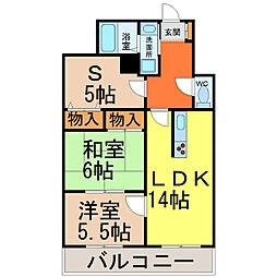 宝マンション大須[10階]の間取り