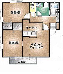 エルグランデKIII[2階]の間取り