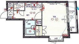クレイシア北新宿[0201号室]の間取り