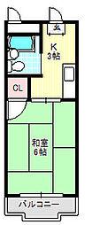 コーポタカハシB[2階]の間取り
