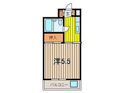 ハイツ南浦和[2階]の間取り