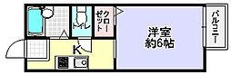 ハイツH&M[1階]の間取り