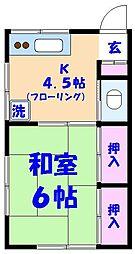 高橋荘[201号室]の間取り