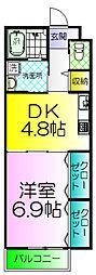 カーサデコスタ[2階]の間取り