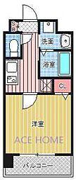 Luxe新大阪III[416号室号室]の間取り