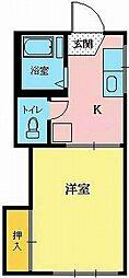 宮城県仙台市青葉区角五郎2丁目の賃貸アパートの間取り