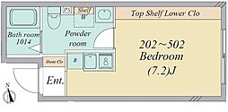亀有2丁目・新築RCマンション 3階ワンルームの間取り
