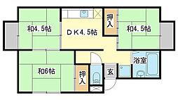 土井ハイツ[201号室]の間取り