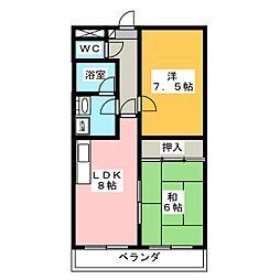 メゾン白木[2階]の間取り