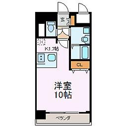 プレサンス鶴舞公園WEST[14階]の間取り