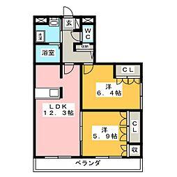 ノーブル ピュア[3階]の間取り