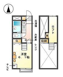 レオパレス京田[1階]の間取り