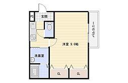 大阪府大阪市平野区長吉長原3の賃貸アパートの間取り