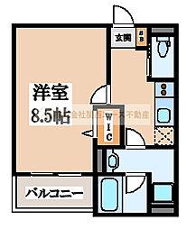 eva北花田(エヴァキタハナダ)[3階]の間取り