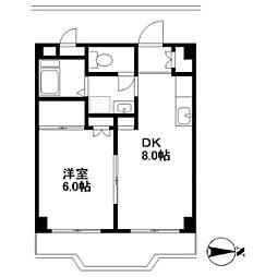 パールビルA号棟[2階]の間取り