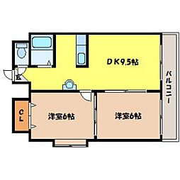 北海道札幌市中央区北五条西13丁目の賃貸マンションの間取り