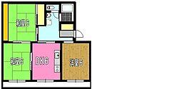 はぁーとマンション[302号室]の間取り