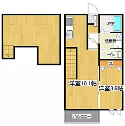 Ampio志免中央[2階]の間取り