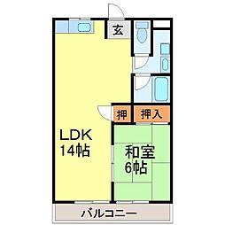 川崎マンション弐番館[3階]の間取り