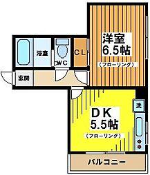 東京都杉並区大宮2丁目の賃貸マンションの間取り