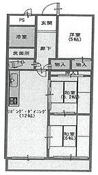 セレニティ武庫之荘[304号室]の間取り