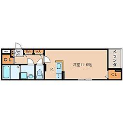 JR東海道本線 東静岡駅 徒歩12分の賃貸マンション 4階1Kの間取り