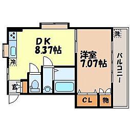 有吉アパート[302号室]の間取り
