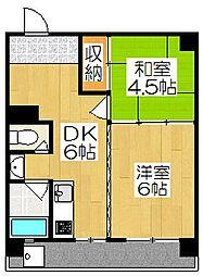 野村マンション[302号室]の間取り