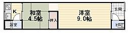 阪本ハイツ[2階]の間取り