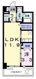 オンフォレスト芳泉[1階]の間取り