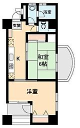 ルピナス東神奈川[705号室]の間取り