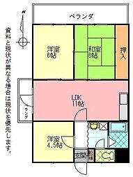 石垣東成ビル[0407号室]の間取り