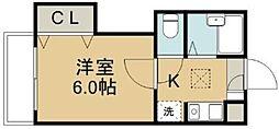 コーポ二本杉B[1階]の間取り