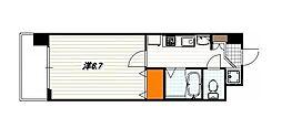 プレサンス京都三条響洛[1階]の間取り