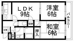サニーコート山本[0101号室]の間取り