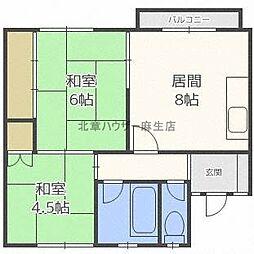 3まついマンション[3号室]の間取り