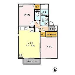セジュール円城寺[2階]の間取り