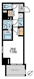 プライマル横濱平沼橋 10階1Kの間取り