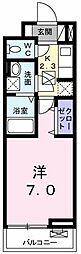 東京都武蔵村山市榎3の賃貸アパートの間取り