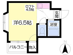 福岡県福岡市東区松香台2丁目の賃貸アパートの間取り