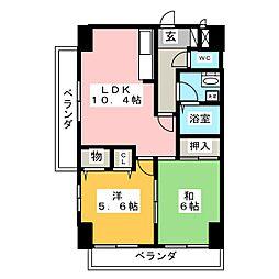 クレスト福江248[7階]の間取り
