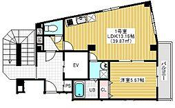 JR外房線 本千葉駅 徒歩5分の賃貸マンション 4階1LDKの間取り
