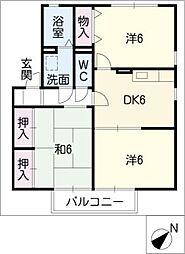 ラ・ティーナA棟[2階]の間取り