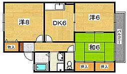 京都府八幡市橋本東浄土ケ原の賃貸アパートの間取り