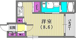 サンクラッソ神戸山手[2階]の間取り