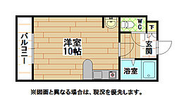 福岡県北九州市小倉北区井堀2丁目の賃貸マンションの間取り