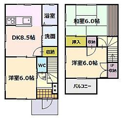 [タウンハウス] 静岡県袋井市愛野東2丁目 の賃貸【/】の間取り